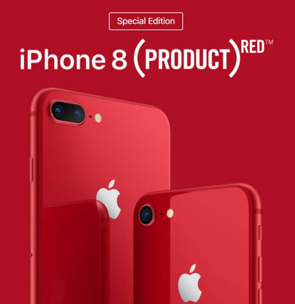 Apple Officially Launches Red iPhone 8 and iPhone 8 Plus (SE)