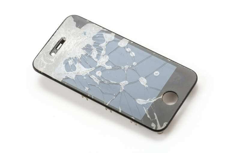 broken mobile screen